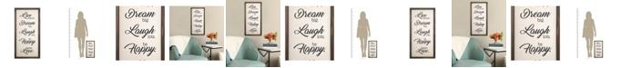 """Stratton Home Decor Stratton Home Decor """"Live, Dream, Laugh, Happy, Love"""" Wall Decor"""