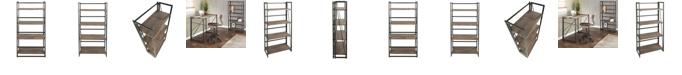 Lumisource Dakota Bookcase in Metal and Wood