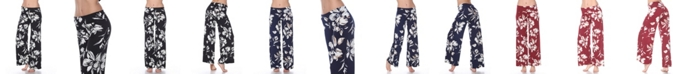 White Mark Flower Print Palazzo Pants