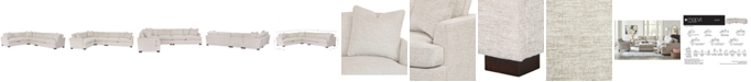 """Furniture Juliam 4-Pc. Fabric """"L"""" Shape Sectional Sofa, Created for Macy's"""