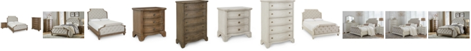 Klaussner Trisha Yearwood Jasper County Upholstered Bedroom Collection 3-Pc. Set (King Bed, Nightstand & Chest)