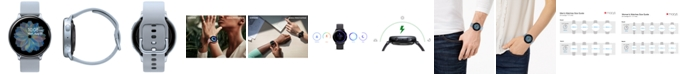 Samsung Galaxy Active 2 Gray Silicone Strap Touchscreen Smart Watch 44mm