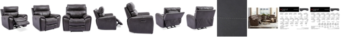 "Furniture Hutchenson 43"" Leather Power Recliner"