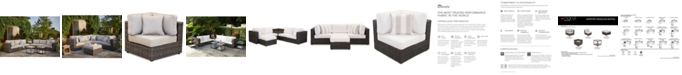 Furniture Viewport Outdoor Modular Seating, with Sunbrella® Cushions, Created for Macy's