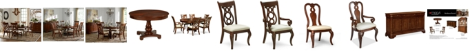 Furniture Closeout! Bordeaux Pedestal Round Dining Room Furniture Collection, Created for Macy's