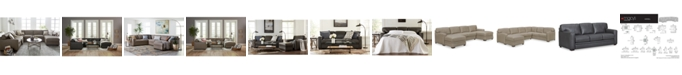 Furniture Avenell Leather Sectional and Sofa Collection, Created for Macy's