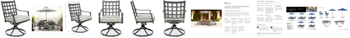 Furniture Highland Aluminum Outdoor Swivel Rocker with Sunbrella® Cushion, Created for Macy's