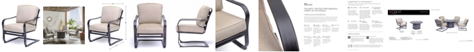 Furniture Vintage II C-Spring Chair, with Sunbrella® Cushions, Created for Macy's