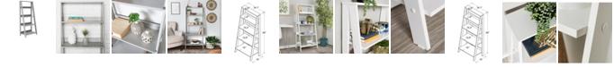 """Walker Edison 55"""" Wood Ladder Bookshelf"""