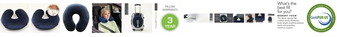 Sleep Trends U-Shape Memory Foam Travel Neck Pillow
