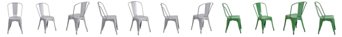 Clickhere2shop Metal Indoor-Outdoor Stackable Bistro Style Chair