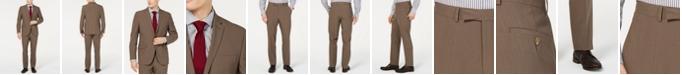 Kenneth Cole Reaction Men's Techni-Cole Slim-Fit Stretch Brown Suit