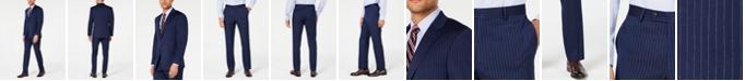 Tommy Hilfiger Men's Modern-Fit THFlex Stretch Navy Pinstripe Suit