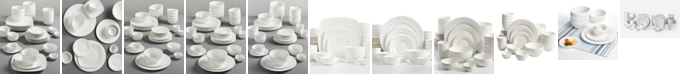 Gibson White Elements 42 pc Dinnerware Sets, Created for Macy's