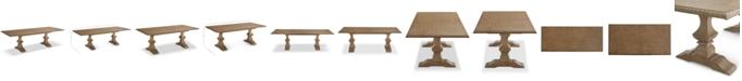 Furniture Trisha Yearwood Jasper County Stately Brown Rectangular Dining Table