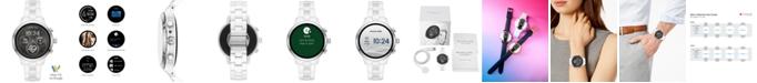 Michael Kors Access Unisex Runway White Ceramic Bracelet Touchscreen Smart Watch 44mm, Powered by Wear OS by Google™