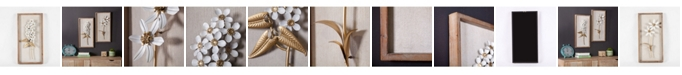 Luxen Home 2 piece White and Gold Flower Bouquet Wall Plaque