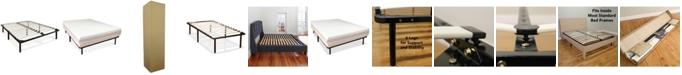 Sleep Trends Europa Wood Slat and Metal Platform Bed Frame- Twin XL