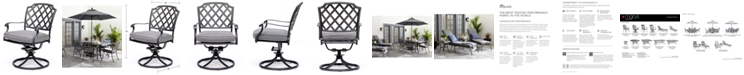 Furniture Vintage II Swivel Chair With Sunbrella® Cushion, Created for Macy's