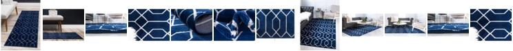 Marilyn Monroe Glam Mmg001 Navy Blue/Silver Area Rug Collection