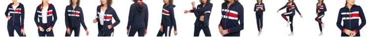 Tommy Hilfiger Women's Flag Color Block Zip Up Terry Hoodie