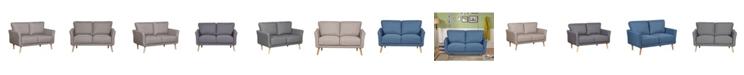 Us Pride Furniture Jayne Modern Fabric Loveseat