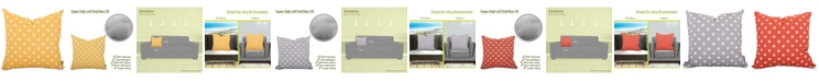 """Majestic Home Goods Ikat Dot Decorative Throw Pillow Extra Large 24"""" x 24"""""""