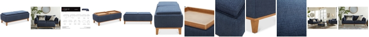 Furniture Jollene Fabric Storage Cocktail Ottoman, Created for Macy's