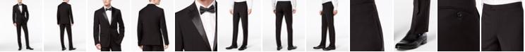 Calvin Klein Men's X-Fit Infinite Stretch Black Tuxedo Suit Separates