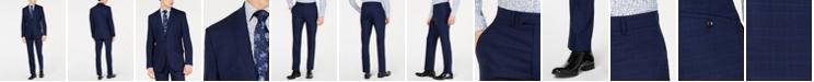 Kenneth Cole New York Men's Slim-Fit Windowpane Performance Suit