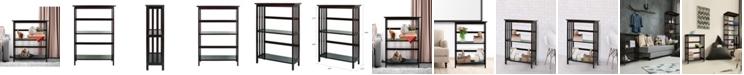 Yu Shan Mission Style 5 - Shelf Bookcase
