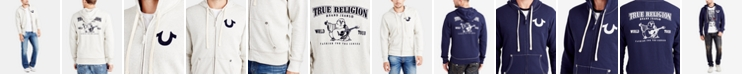 True Religion Men's Classic Logo Zip-Up Hoodie