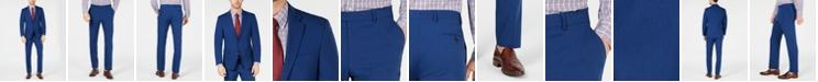 Tommy Hilfiger Men's Modern-Fit THFlex Stretch Blue Neat Tic Suit