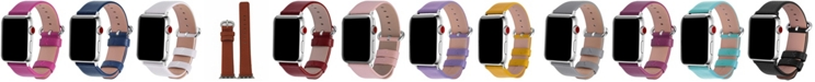 Nimitec Women's Solid Color Leather Apple Watch Strap 42mm