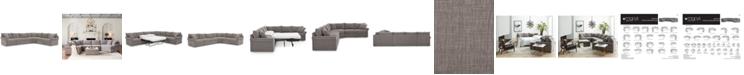 "Furniture Wedport 5-Pc. Fabric ""L"" Shape Modular Sleeper Sectional Sofa with Wedge Corner Piece, Created for Macy's"