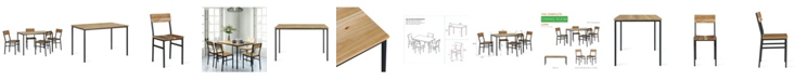 Novogratz Collection NovoGratz Linden 5-Piece Wood and Metal Dining Set