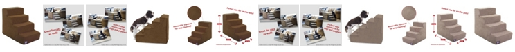 Majestic Pet 4 Steps Suede Pet Stairs