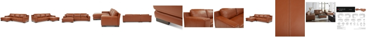 Furniture Darrium 2-Pc. Leather Sofa with Chaise, Created for Macy's