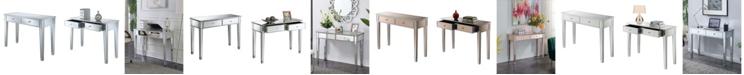 Convenience Concepts Gold Coast Mirrored Desk