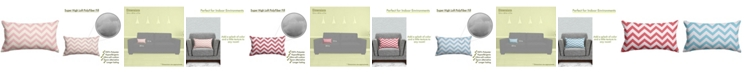 "Majestic Home Goods Chevron Decorative Soft Throw Pillow Small 20"" x 12"""