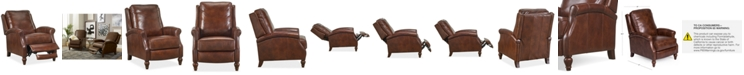 Furniture Leeah Leather Pushback Recliner