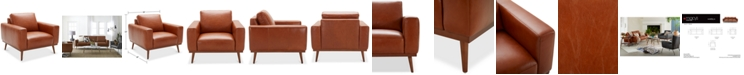 """Furniture CLOSEOUT! Marsilla 39"""" Leather Armchair, Created for Macy's"""