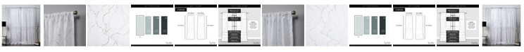 "Exclusive Home Nicole Miller Vanderbilt Metallic Print Sheer Rod Pocket Top 54"" X 84"" Curtain Panel Pair"