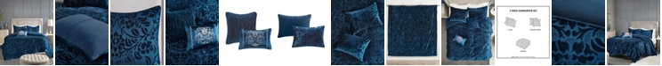 Madison Park Irene Velvet 5-Piece Queen Comforter Set