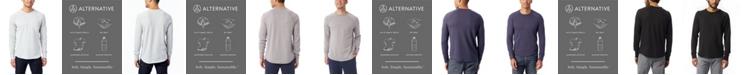 Alternative Apparel Men's Kickback Vintage-like Heavy Knit Pullover Sweatshirt