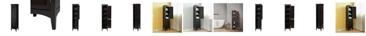 Elegant Home Fashions Slone Linen Tower with 2 Shutter Doors