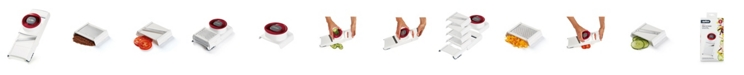 Zyliss 4 in 1 Slicer Grater - Vegetable Cutter, Adjustable and Collapsible with Non-Slip Grip