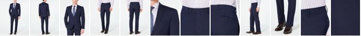 Van Heusen Men's Slim-Fit Flex Stretch Wrinkle-Resistant Dark Blue Pindot Suit