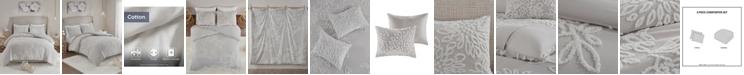 Madison Park Veronica Full/Queen 3-Pc. Tufted Cotton Chenille Floral Duvet Cover Set