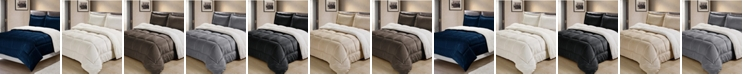 Cathay Home Inc. Ultimate Luxury Reversible Micromink and Sherpa King Bedding Comforter Set